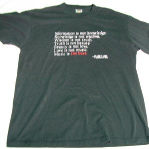 Vintage Frank Zappa Music Quote T-Shirt